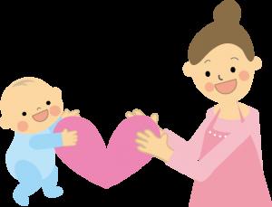 赤ちゃんとお母さんのイラスト