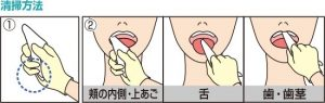 口腔ケアガーゼ 使用方法