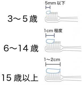 歯磨き粉 使用量